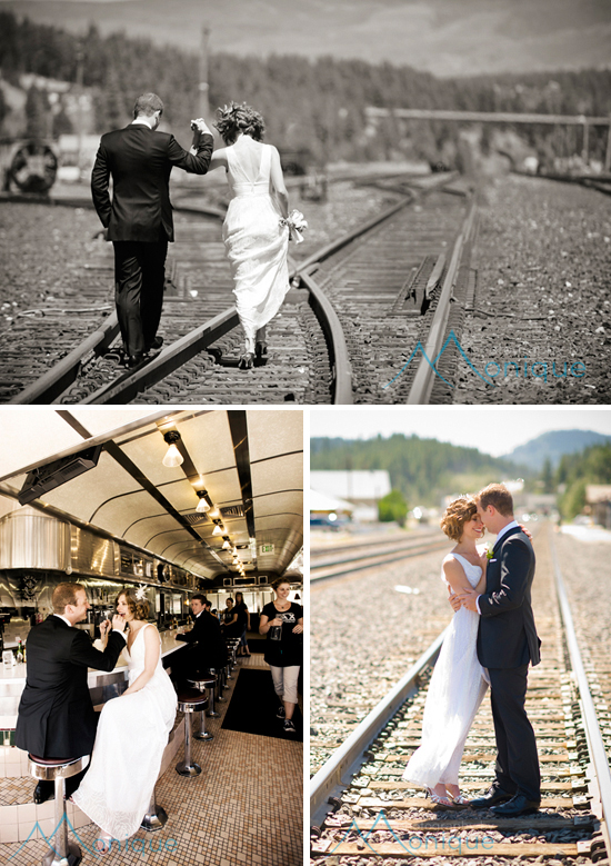 Historic downtown Truckee wedding photography