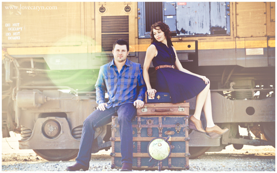 Vintage Travel Engagement Session by The Bird & The Bear Photography