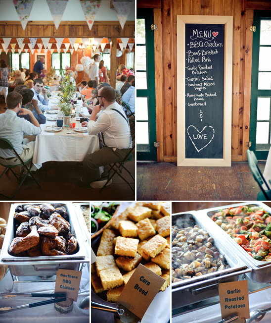 Wedding Food Buffet Menus: Crafty Camping Wedding