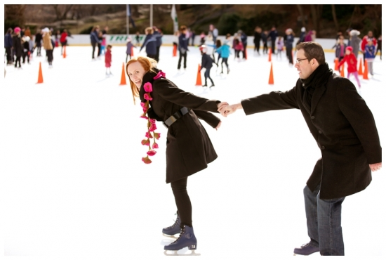 NY Wedding Photographer Carmen Santorelli | Ice Skating Engagement