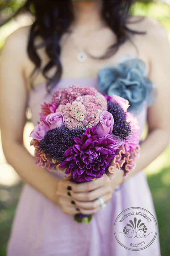 Purple wedding bouquet junglespirit Images