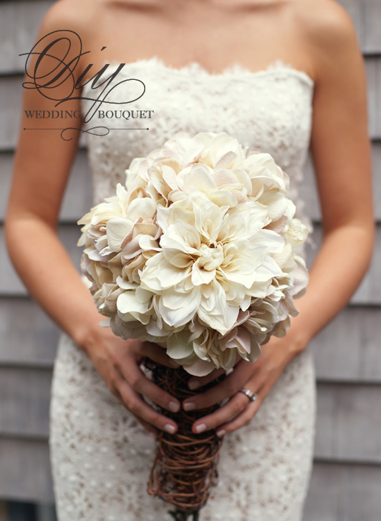 Diy hydrangea and mum bouquet solutioingenieria Image collections