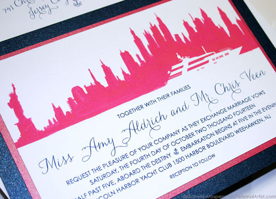 NYC custom wedding invitations