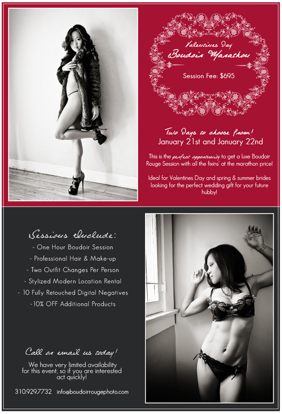 Los Angeles Boudoir Marathion with Boudoir Rouge