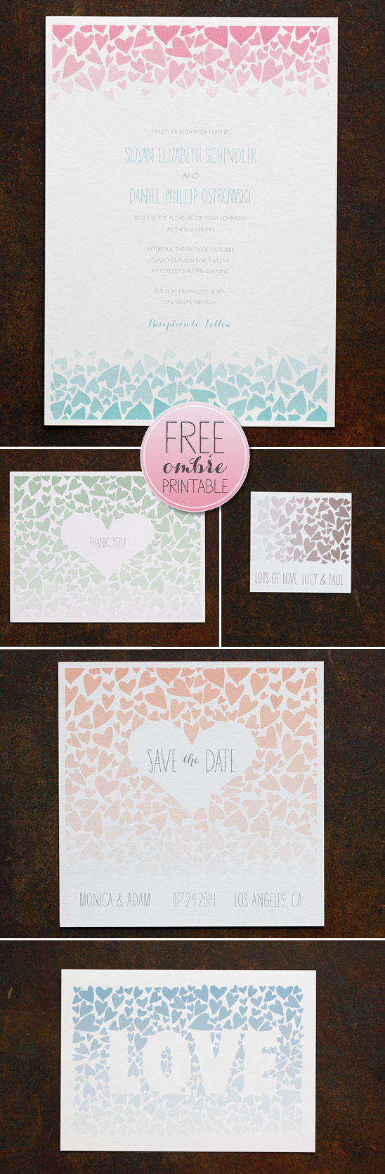 Free Ombre Printables