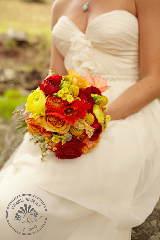 Red orange and yellow wedding bouquet mightylinksfo