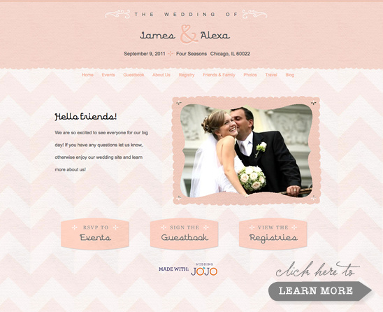 Super Stylish Wedding Websites From Wedding Jojo