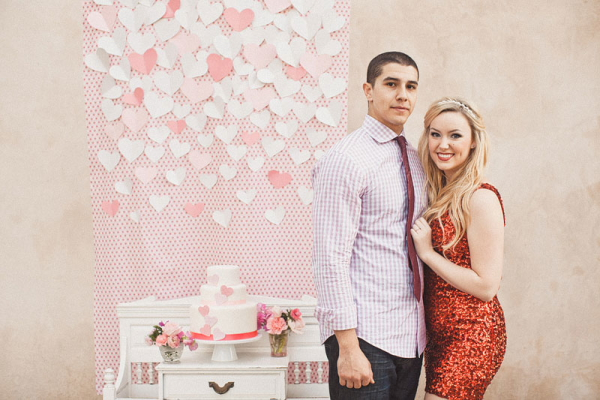 Heart Themed Engagement Party