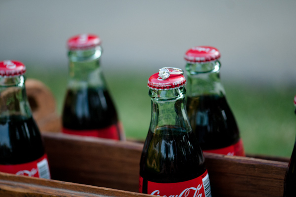 Coca Cola Themed Engagement Pictures in Atlanta