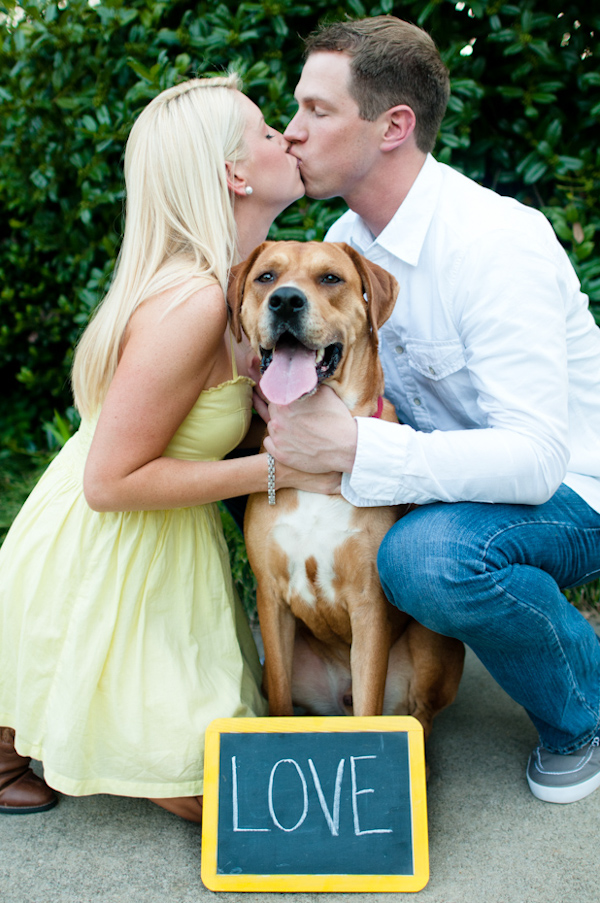 Including Dog in Engagement Pictures