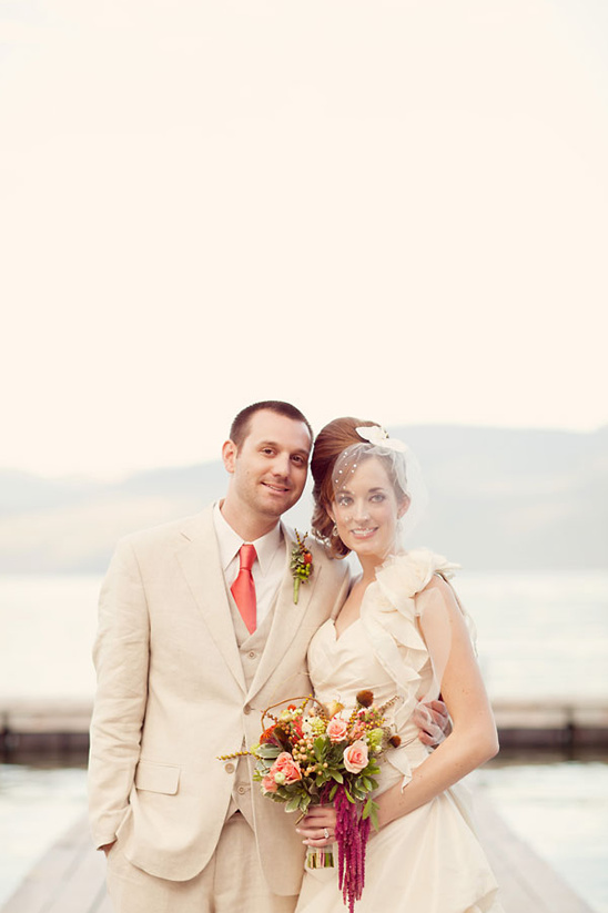Ivory And Peach Wedding