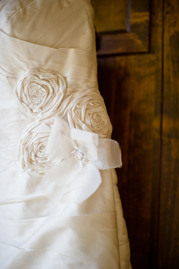 Wedding Dress with Flower Appliques
