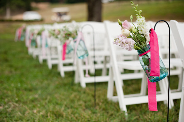 Mason Jar Aisle Decoration