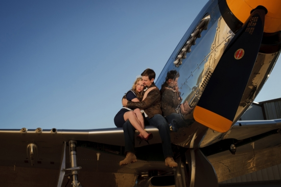 Aviator Engagement with Vintage Touches