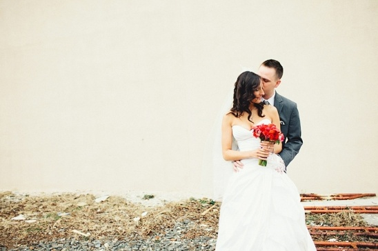 elegant red bank wedding