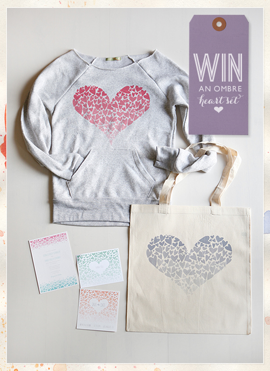 Wedding Chicks Giveaway | Win An Ombre Heart Set