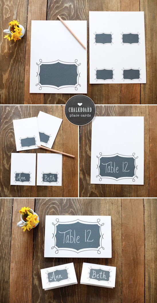 Free Printables | Chalkboard Place Cards