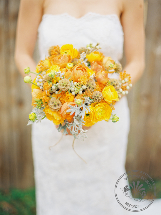 Yellow and orange wedding bouquet mightylinksfo