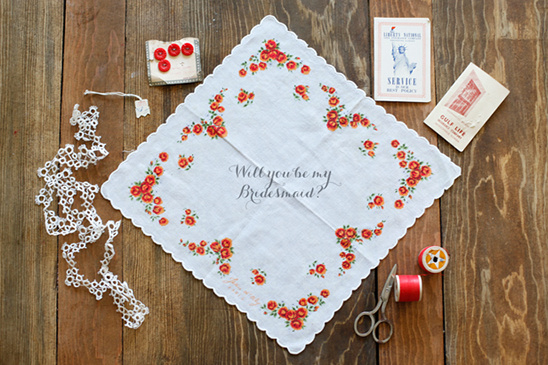 Truly Vintage Wedding Hankies