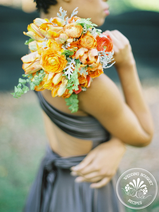 Tangerine Bridesmaid Bouquet