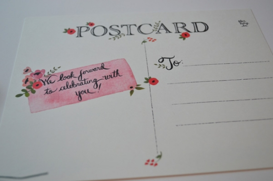 Save the Date Postcard Twist