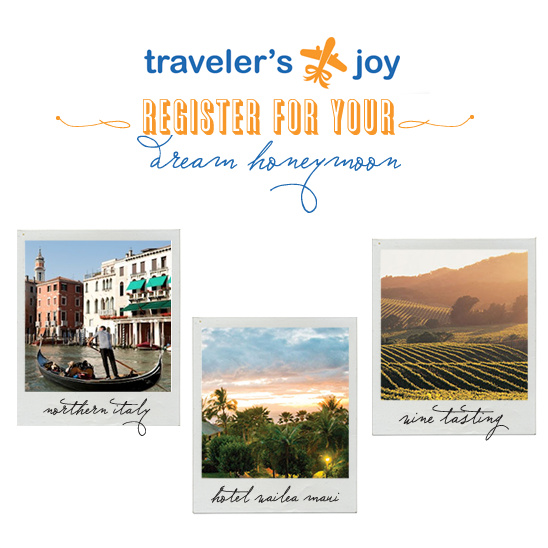Register Your Honeymoon With Traveler's Joy