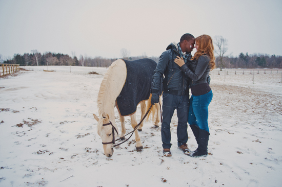 Toronto Horse Farm Engagement Shoot