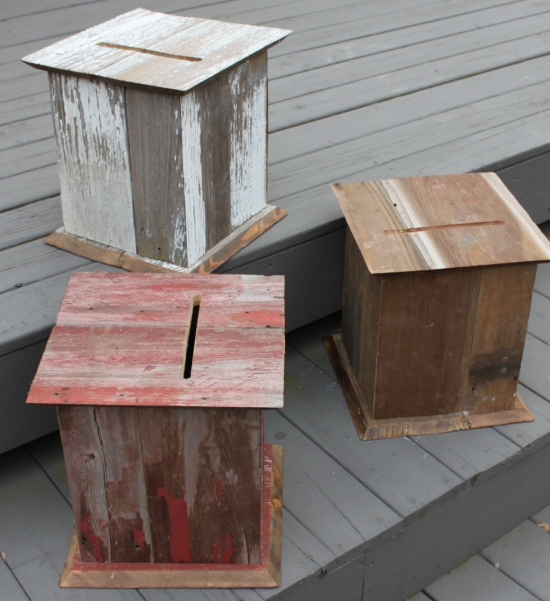 Country Wedding Card Box made from Barnwood
