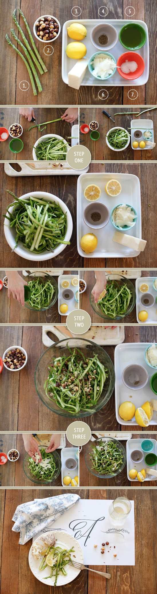 Ribboned Asparagus Salad
