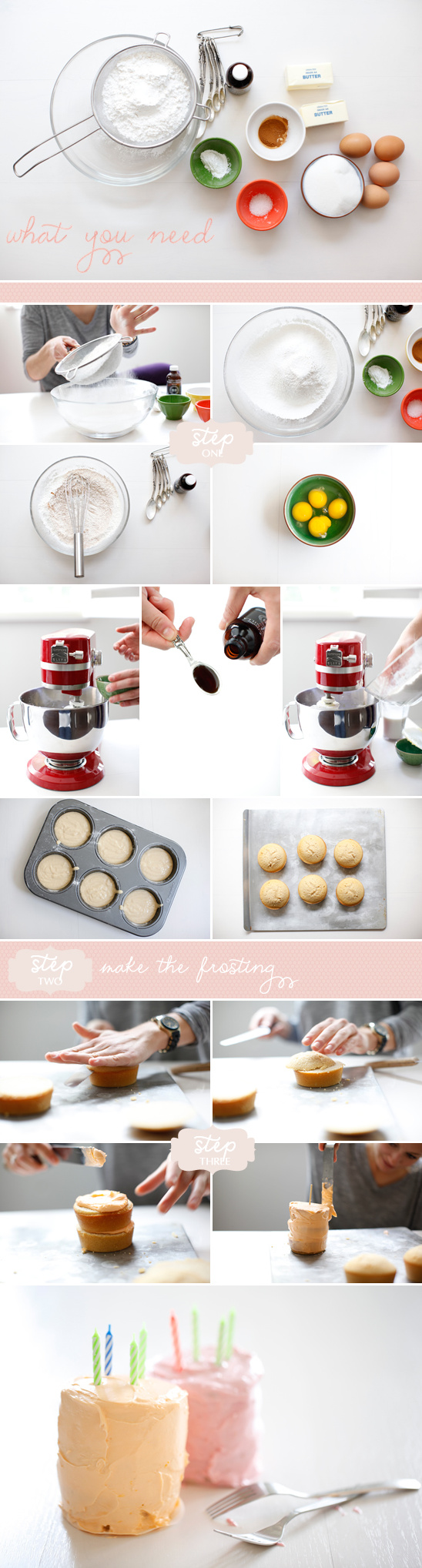 How To Make Mini Cakes