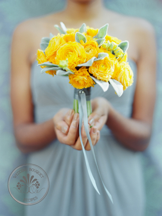 Yellow Ranunculus Wedding Bouquet