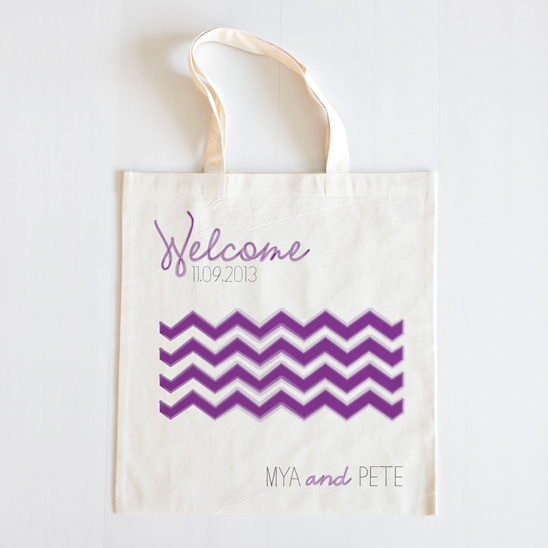 Watercolor Chevron Custom Tote