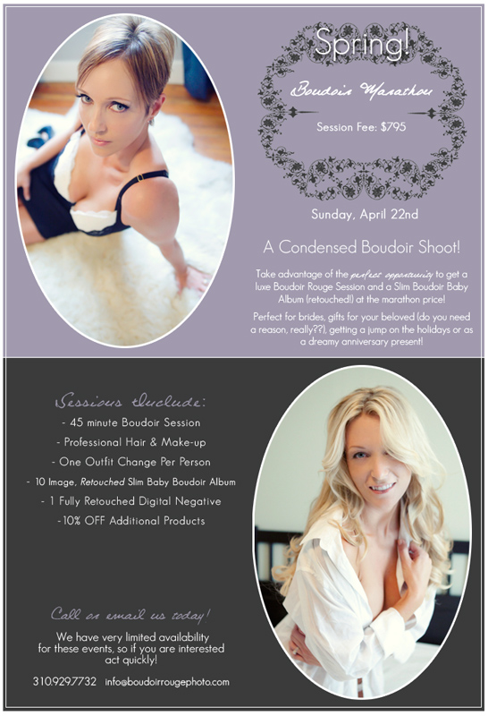 Los Angeles Boudoir Marathon with Boudoir Rouge Photography