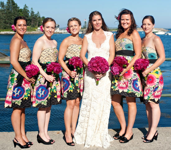 Pink and Blue Maine Wedding by Robin Nathan Photography