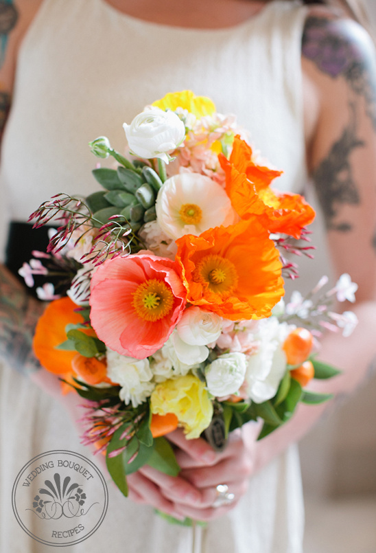 kumquat wedding bouquet