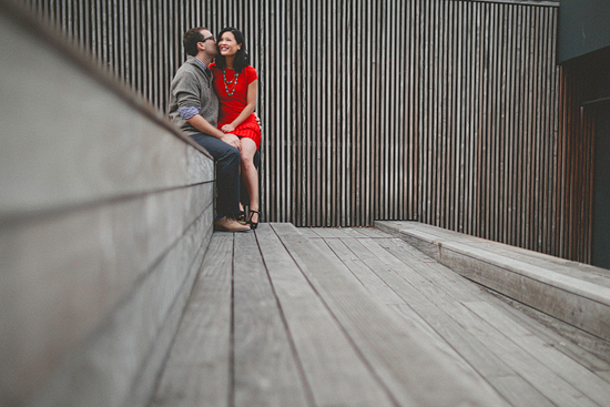 A Whimsical Engagement Session at The Highline in NYC.