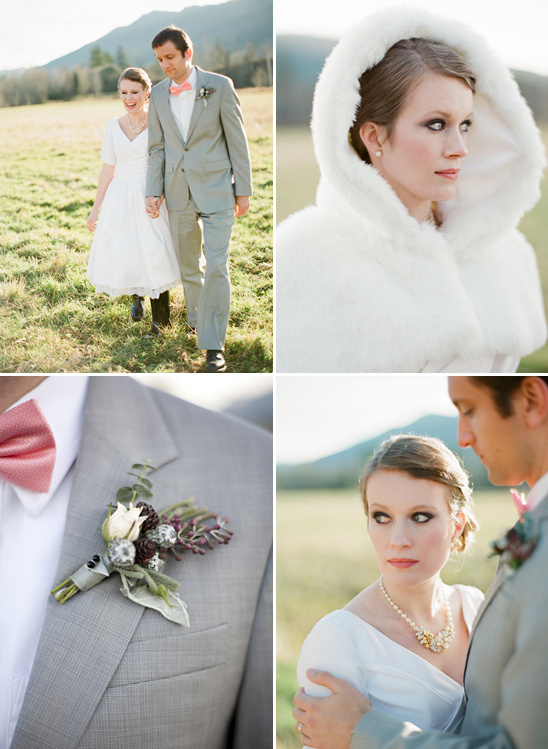 Pretty Peach and Gray Wedding Ideas