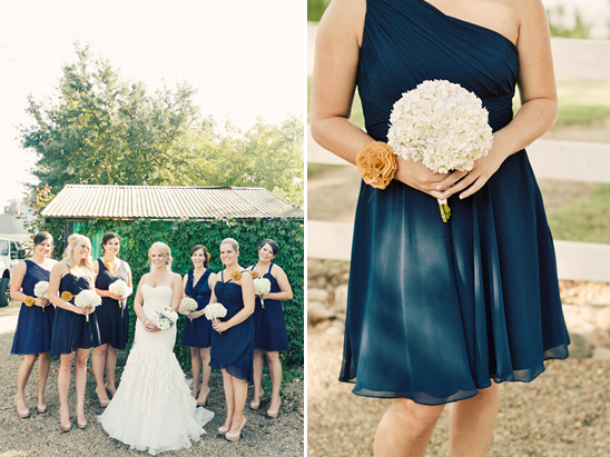 Navy Blue And Yellow Homemade Wedding