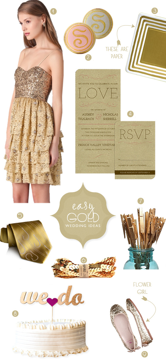 Easy Gold Wedding Ideas