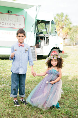 Bohemian Food Truck Wedding