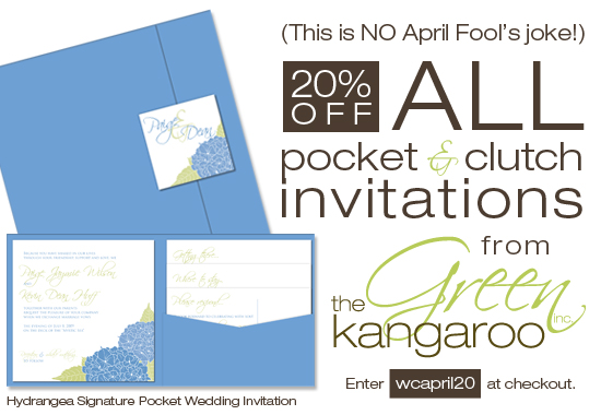 April Pocket Wedding Invitations Promotion