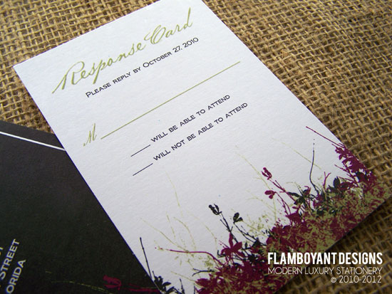 Perfectly Designed Meadow Invitations - Flamboyant Designs