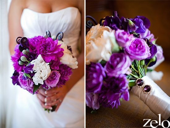 Golf Course Wedding With Purple Wedding Ideas
