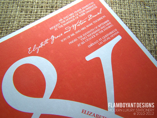 Ampersand Wedding Invitations by Flamboyant Designs