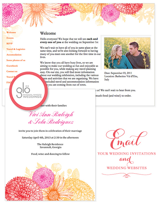 Blog - Email Wedding Invitations And Organize Your Wedding With Glo