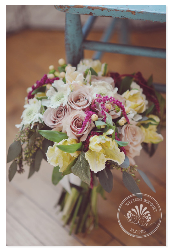 Quicksand Hued Rose Wedding Bouquet