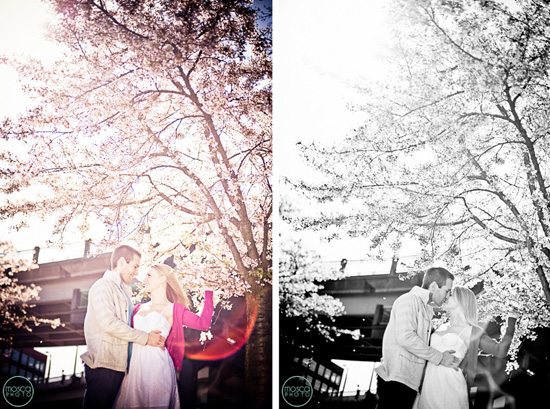 Bright Light, Spring Blooms, Portland Engagement Session