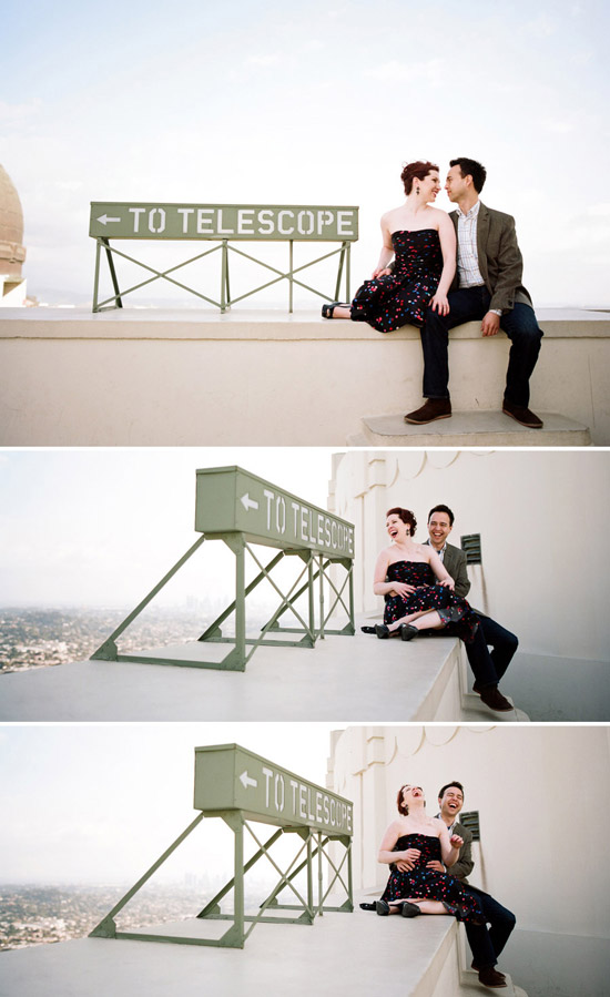 Lindsey and Michael, Griffith Observatory Enagegement