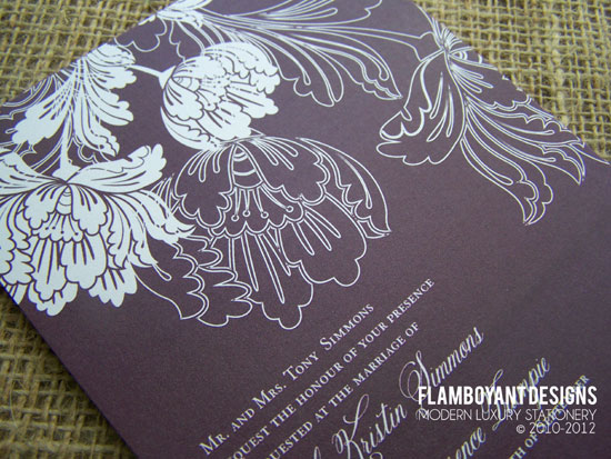Eco Friendly Floral Spring Wedding Invites by Flamboyant Designs