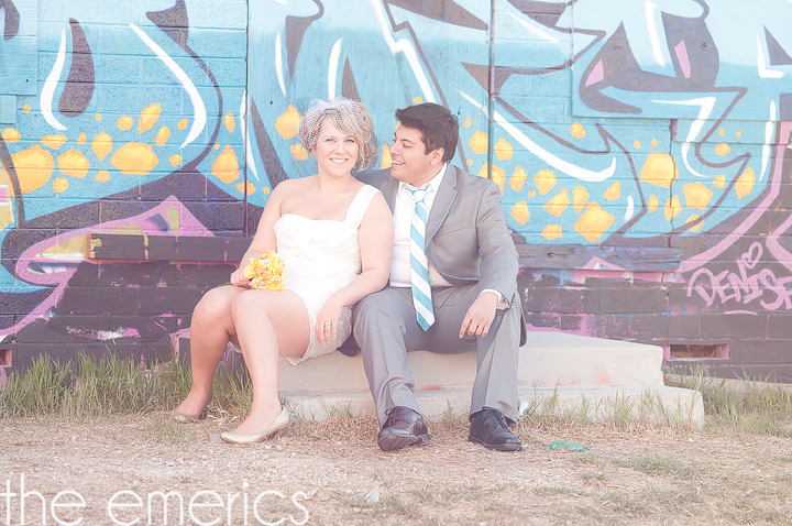 Fun Downtown Las Vegas Vow Renewal Portrait Session